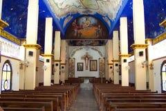 教会crucecita内部la 免版税图库摄影