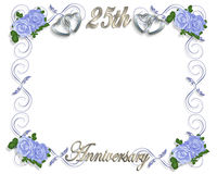 25ème Descripteur d'anniversaire Image stock