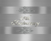 25ste de uitnodigingsZilver van de Verjaardag van het Huwelijk   Stock Fotografie