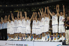25ste UNIVERSIADE - Basketbal Royalty-vrije Stock Afbeelding
