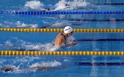 25ste Universiade Belgrado dat 2009 - zwemt Stock Foto's