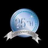 25th årsdag royaltyfri illustrationer