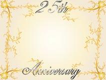 25th årsdagbröllop royaltyfri illustrationer