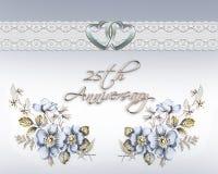 25th årsdagbröllop stock illustrationer