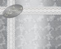 25th årsdaginbjudanbröllop Arkivbild