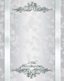 25th årsdaginbjudanbröllop vektor illustrationer