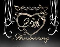 25th венчание годовщины иллюстрация штока