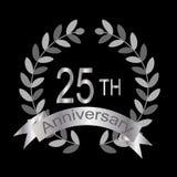 25th годовщина (вектор) иллюстрация штока