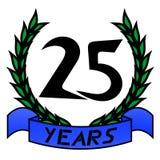 25th годовщина иллюстрация штока