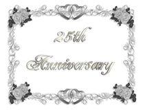 25th приглашение годовщины 3d иллюстрация вектора