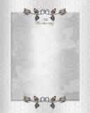 25th серебр приглашения годовщины иллюстрация вектора
