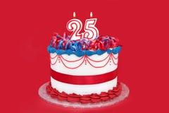 25th торт Стоковые Фото