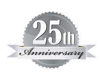 25th уплотнение годовщины бесплатная иллюстрация