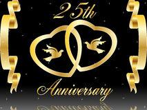 25th венчание годовщины Стоковые Изображения RF