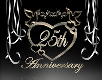 25th венчание годовщины Стоковое фото RF