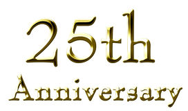25th anniversary. On a solid white background Royalty Free Stock Images