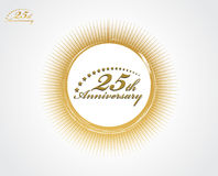 25th anniversary vector illustration