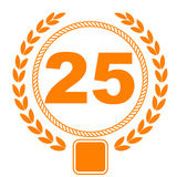 25th anniversary Royalty Free Stock Images