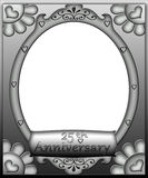 25th Anniversary Frame Border royalty free stock photos