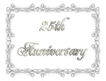 25th Anniversary Invitation 3D illustration Stock Image