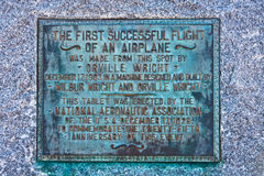 25th Anniversary Marker for First Flight Royalty Free Stock Photography