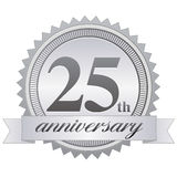 25th Anniversary Seal EPS Royalty Free Stock Photos