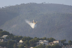 25th of August 2011. firefighters over Majorca Stock Photo