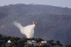 25th of August 2011. firefighters over Majorca Royalty Free Stock Photography