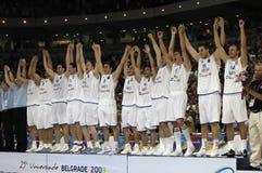 25th basketuniversiade royaltyfri bild