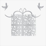 25th bröllop för silver för årsdagkortgåva vektor illustrationer