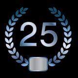 25th eller silverårsdag av en förbindelse eller en busine Arkivfoto
