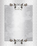 25th silver Anniversary Invitation Stock Photo