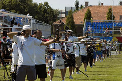 25th UNIVERSIADE - Archery Stock Images