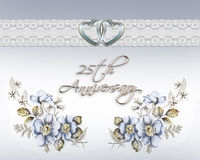 25th wedding anniversary Royalty Free Stock Photo