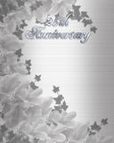 25Th Wedding Anniversary invitation Royalty Free Stock Photos