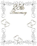 25th Wedding Anniversary invitation Stock Image