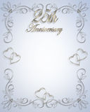 25th Wedding Anniversary invitation Royalty Free Stock Image