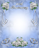 25th Wedding Anniversary Invitation Royalty Free Stock Photography