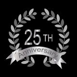 25to aniversario (vector) Imágenes de archivo libres de regalías