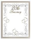25to Invitación del aniversario de boda Imagen de archivo libre de regalías