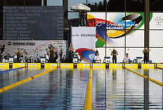 25to Universiade Belgrado 2009-Swimming Foto de archivo libre de regalías
