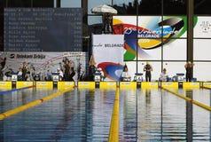 25to Universiade Belgrado 2009-Swimming Foto de archivo libre de regalías