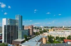 Вид с воздуха Екатеринбурга 26-ого июня 2013 Стоковые Фотографии RF