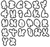 26 grafitti fonts. Funny bubble  alphabet,can be used in a variety of ways Royalty Free Stock Photo