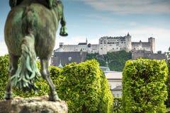 26 May 2019, Salzburg, Austria. Hohensalzburg Castle And Fortress Stock Photos