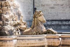 26 May 2019, Salzburg, Austria. Residence Fountain Stock Photography