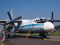 AN-26 ukrainien, Radom, Pologne Photos libres de droits
