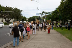 26 upptar anti apec honolulu protest Arkivbilder