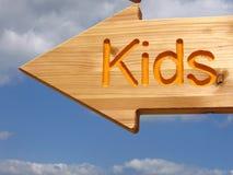 方向孩子 免版税库存图片