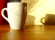 早晨好杯子 库存图片